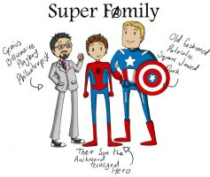 Super Family - Marvel by Naomimon-Alpha
