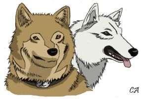 Hige and Kiba-wolf form by noctipatronus