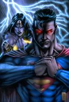 Marcio wonder woman superman by vic55b
