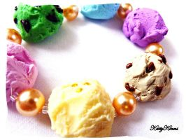 Ice Cream Bracelet by Cateaclysmic