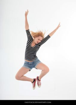 Jumping - Action Pose Reference 14 by faestock