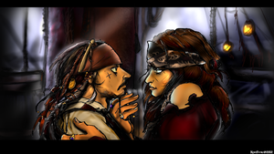 Jack Sparrow and Angelica Blackbeard by KomyFly