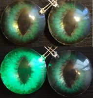 4cm green LED fox eyes by DreamVisionCreations