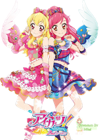 Aikatsu 2wings render (Ichigo and Seira) by Kawaii-Mimi-chii