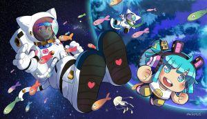 Spacial cat team by Charln