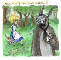 Alice meets the White Rabbit by donniedarko-club