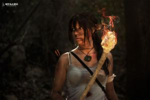 Lara Croft - Fire by CrystalPanda