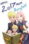 Happy New Year with NaruSaku Family by PumyteH