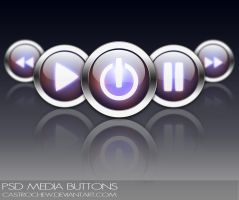 PSD Media Buttons by castrochew