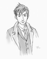 10th Doctor Comic Study by bluejake01