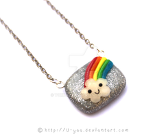 Happy rainbow necklace by TokiCrafts
