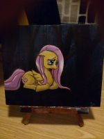 Sad Fluttershy Painting by Alcorexic92