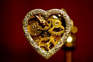 Steampunk Heart Pendant by WillowFox