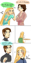 Frozen Actor!AU: That's a lot of hair! by maybelletea