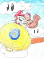 Mario x Daisy- Sky Pop Ride by LilacPhoenix