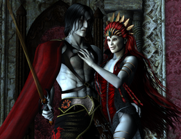 Vampire Couple by nocturnallydamn