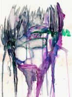 Monster Face Watercolor by lys2313