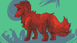 a red canine that happens to by ohkai