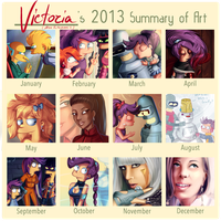 My 2013 Art Summary by MissFuturama