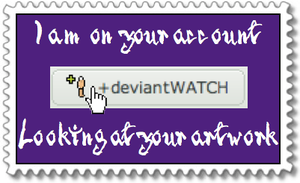 DeviantWatch stamp 6 by EtherealDeath