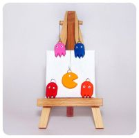 Pac Man Charms by cats-aint-waterproof