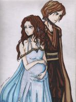 Star Wars- Padme and Anakin by StrawberryLoveAlways