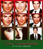 Ian Somerhalder Icons by McOlussska