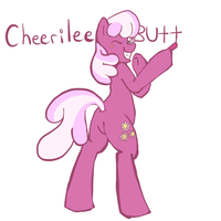 Cheerilee Butt by GreenDelibird