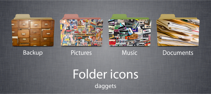 Folder icons by daggets