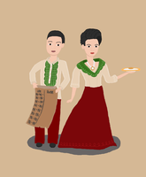 Rosalind and Robert Lutece: Filipino Version by xCharmCandyx
