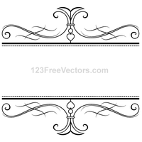 Calligraphy Ornamental Frame Vector Graphics by 123freevectors