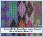 Seamless Hi-Res Texture Pack - Argyle Knitwear by croicroga