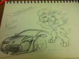 Citroen survolt as a hedgehog form by shadic90210