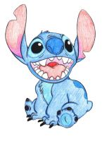 I colored Stitch by Lavender-chan