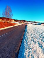 Country road on a winter afternoon by patrickjobst