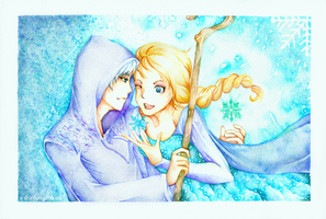 Jack Frost and Queen Elsa by ramlyngrace