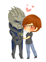[CM]  Charlie and Garrus 2 by jaljello