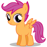 Scootaloo stylized filly by Nerve-Gas