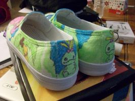 Stitch and Angel shoe color 2 by IamKira69