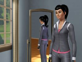 Sims 3 - Human Kitty Katswell in Athletic outfit 2 by Magic-Kristina-KW