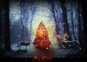 Magic Christmas Tree Photoshop Tutorial by PsdDude