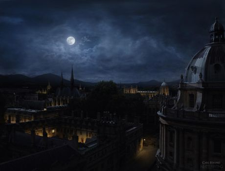 Across The Rooftops -Night by CarlEdlund