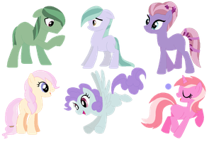 6 Pony Adopts .:CLOSED:. by Rin-Chan16Adoptables