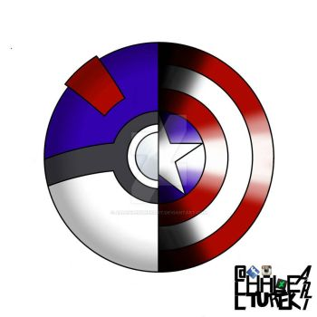 Great Ball Captain America Shield Fusion Logo by AllHaleTurekArt