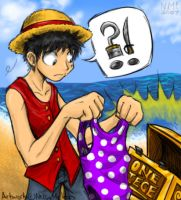 Fanart- Luffy Finds One Piece by spookydoom
