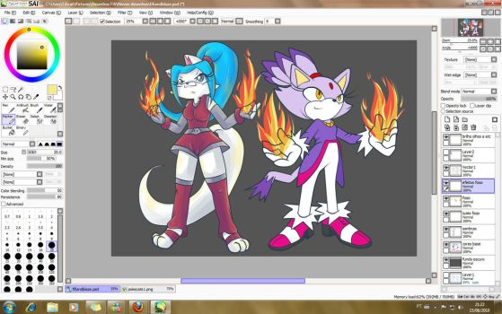 My fire - WIP by Fificat