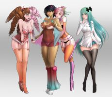 Commission Escada Girls by UlielArt