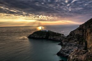 Southstack sunset. by CharmingPhotography