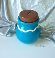 Ceramic Item Pot Bank Wind Waker ZELDA Custom #2 by TorresDesigns