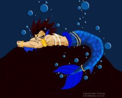Depressed Merman Vegeta by Dbzbabe